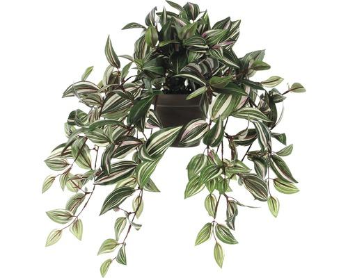 Plante artificielle Tradescantie hauteur 25 cm, vert