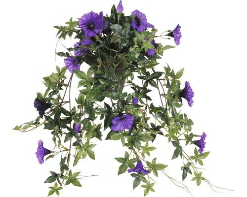 Fleur artificielle Pétunia suspendue, violet