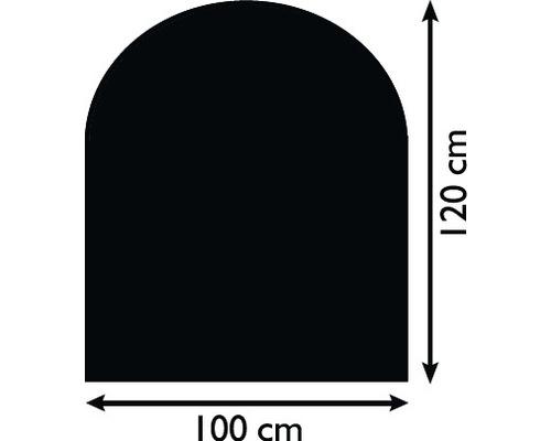 Plaque de protection contre les étincelles acier 100x120 cm noir