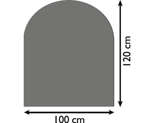Plaque de protection contre les étincelles acier 100x120 cm gris