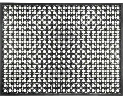 Paillasson en caoutchouc noir 48x62 cm