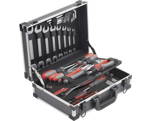 Boîte à outils en aluminium 75 pièces