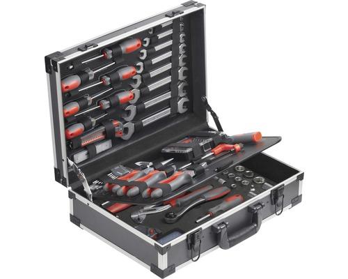 Boîte à outils en aluminium 126 pièces