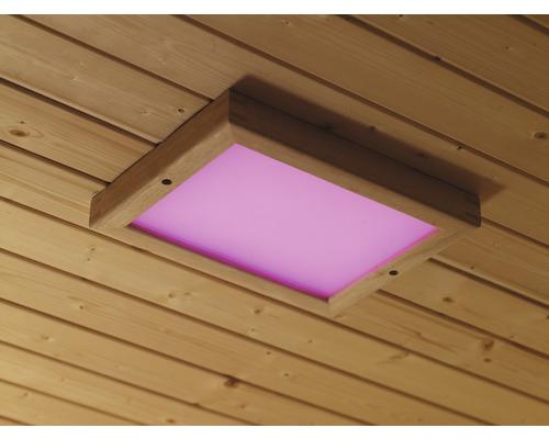 Application d''éclairage coloré LED Karibu pour cabine à infrarouge et sauna
