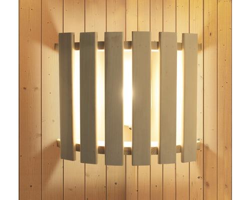 Éclairage sauna Karibu moderne pour saunas avec courant haute tension