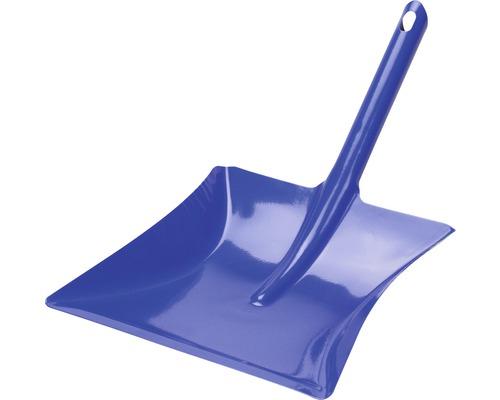Pelle à poussières en métal bleue