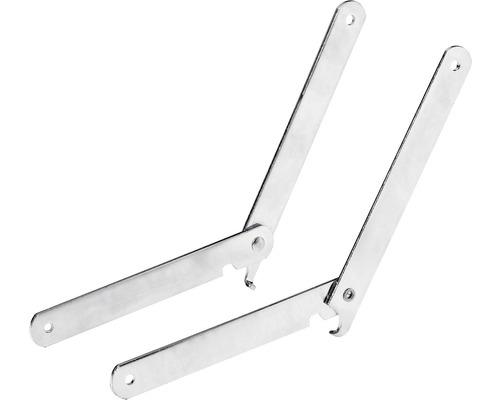 Support rabattable pour banc et table, galvanisé, 2 pièces