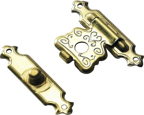 Schatullenverschluss, vermessingt 18x25 mm, 10 Stück