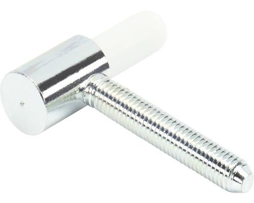 Partie inférieure de paumelle pour cadre en bois, sans entretien, galvanisée Ø 15 mm, 10 pièces