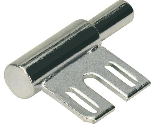 Partie inférieure de paumelle pour cadre en acier, sans entretien, galvanisée Ø 15 mm, 10 pièces