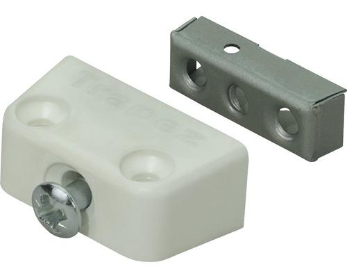 Ferrure d''assemblage à visser Trapèze, blanc 15,8x40x20,5 mm, 20 pièces