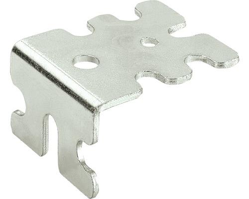 Système d''équerre Euro 32 acier chromaté, 20 pièces