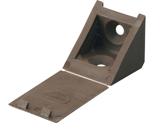Raccord d''angle universel, brun 23x23x23 mm, 20 unités