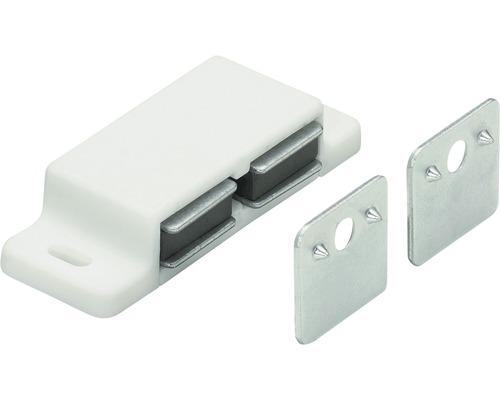 Clip magnétique pour deux portes, blanc, 25 pièces