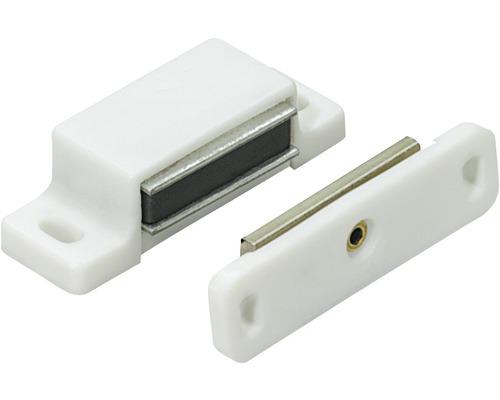 Cliquet magnétique blanc 3-4 kg contre-plaque mobile 50 pces