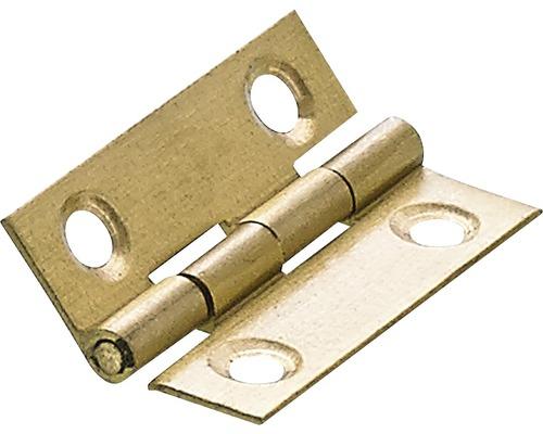 Charnière étroite, laiton 38x25 mm, 10 pièces