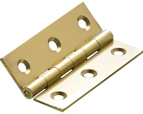 Charnière étroite, laiton mat 64x40 mm, 10 pièces