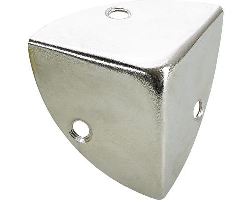 Coin de caisse, nickelé 45x45x45 mm, 25 pièces