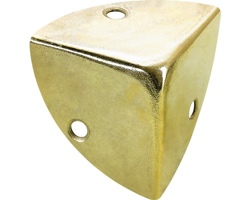 Coin de caisse, laitonné 45x45x45 mm, 25 pièces