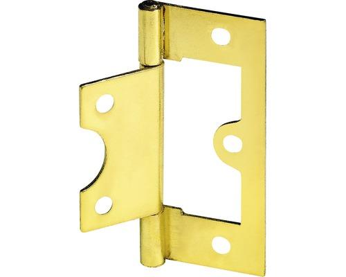 Charnière pour porte à lamelles, laitonnée 75x32 mm, 25 pièces