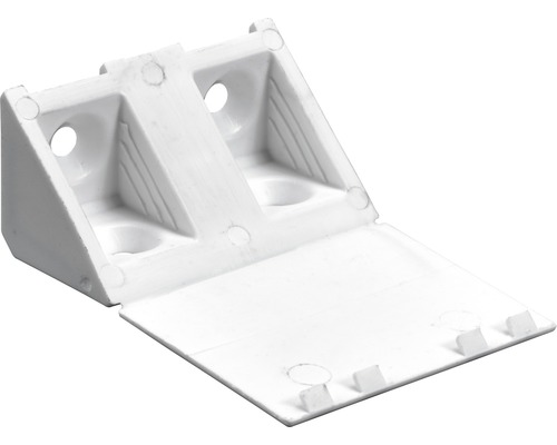 Raccord d''angle universel h 20 x l 43 x p 20 mm, blanc, 4 pièces