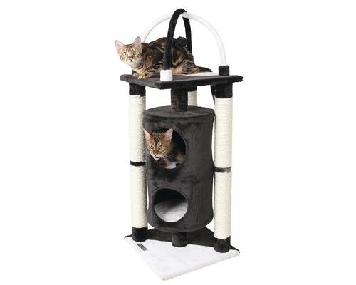 Arbre à chats KERBL Onyx 38x38x107cm noir-blanc