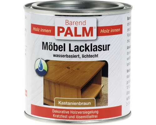 Vernis pour laque à meubles Barend Palm châtain 375ml