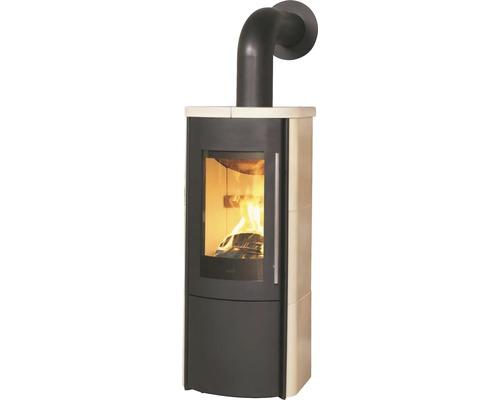 Poêle de cheminée Hark Lova ECOplus céramique crème 6 kW Indépendant de l''air ambiant