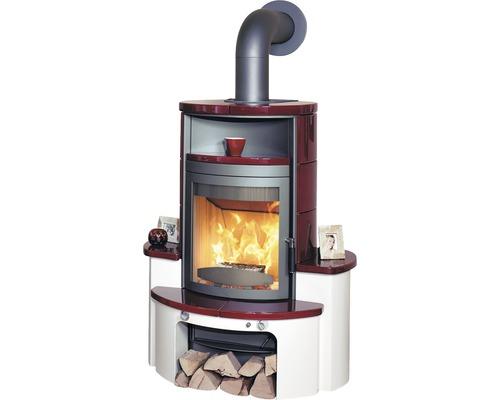 Poêle Hark Avenso ECOplus en céramique bordeaux-rouge 8 kW