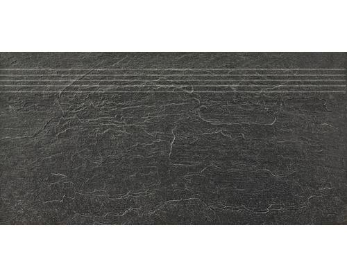 Marche d''escalier Cliff noir 30x60 cm