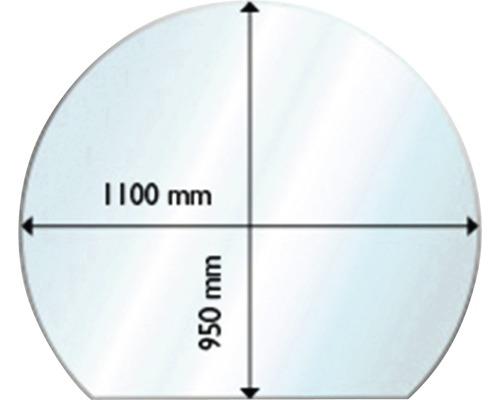 Plaque de protection en verre contre les étincelles 95x110cm