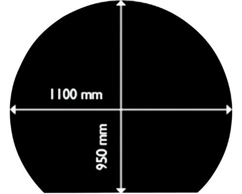 Plaque de protection contre les étincelles acier 95x110 cm noir