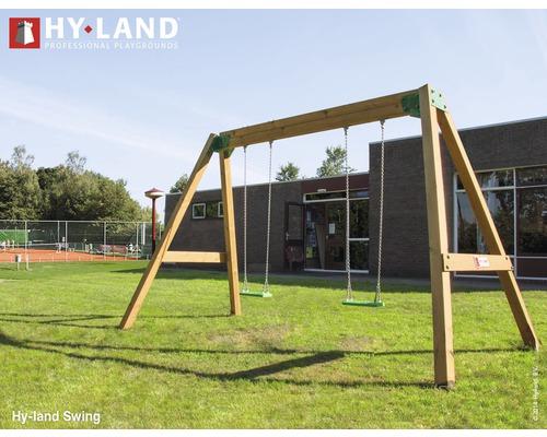 Balançoire double Hyland Swing bois naturel