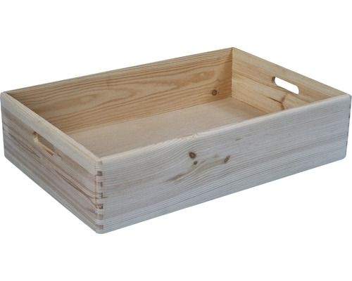 Caisse de rangement en bois 600x400x150 mm