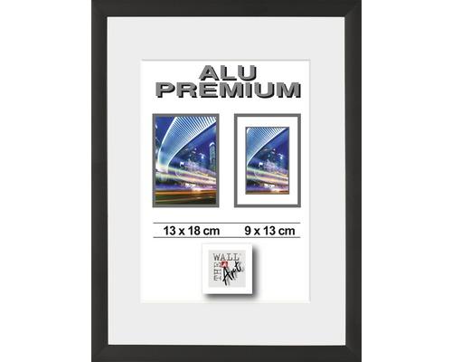 Cadre Alu Duo noir 13x18 cm