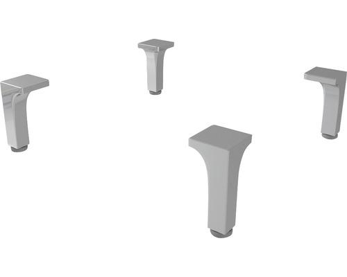 Kit de pieds chromés réglables en hauteur 4 pièces