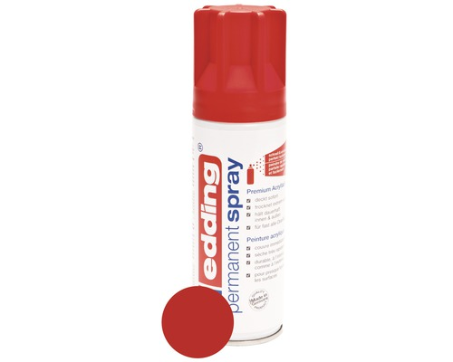 Permanent Spray edding rouge trafic mat satiné 200 ml