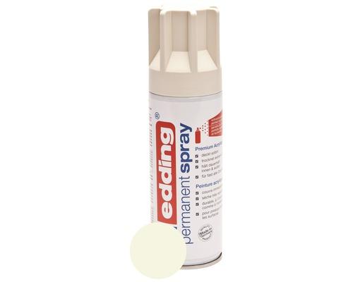 Permanent Spray edding blanc crème mat satiné 200 ml