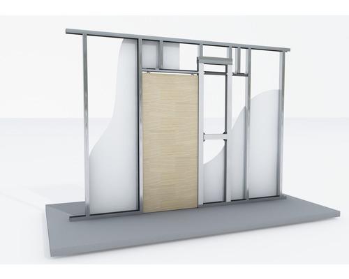 syst me de porte coulissante knauf pocket kit pour porte en bois pour cw 75 et cw 100 hornbach. Black Bedroom Furniture Sets. Home Design Ideas