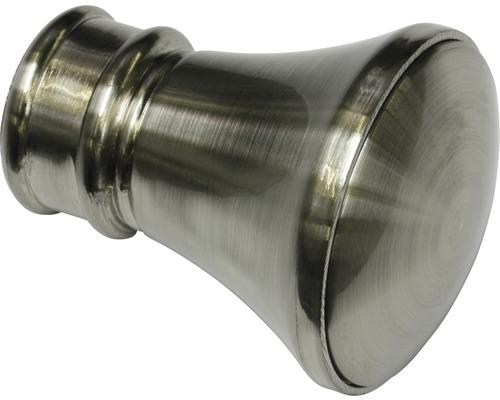 Embout Windsor cône aspect acier inoxydable Ø 25mm lot de 2