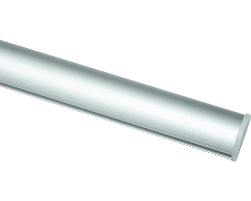 Profil fixateur autocollant pour rideaux coulissants argent 60cm de largeur