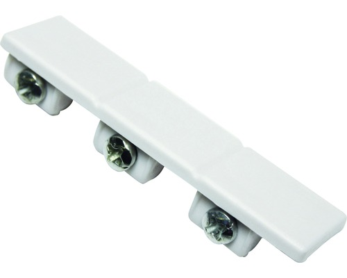Embout pour rails de rideaux en alu à 3 voies, blanc, pack de 2