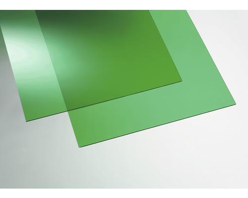 Plaque acrylique couleur 3x250x500 mm lisse verte