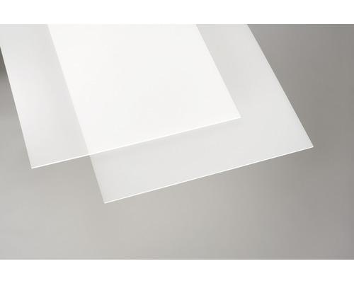 Plaque acrylique couleur 3x250x500 mm lisse opale