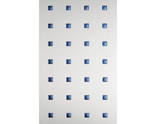 Plaque à effet métal 1.2x650x1000 mm Carrés 3D bleu