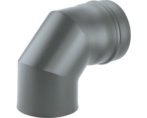 Coude 90° Ø 80 mm Senotherm vernis gris fonte
