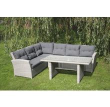 Set de meubles de jardin en rotin synthétique Toscane, 3 ...
