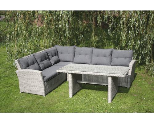 Elegant Toscana Polyrattan Sitzer Teilig Graubeige With Polyrattan Lounge  Set