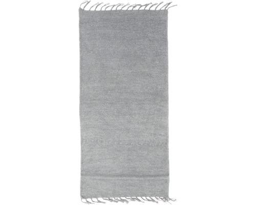 Tapis en chiffon gris 60x120 cm