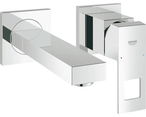 Mitigeur de lavabo GROHE Eurocube 19895000 chrome sans mécanisme de vidage